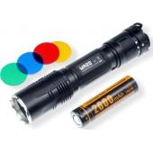 Fitorch MR20 Επαναφορτιζόμενος Φακός LED αλουμινίου ισχύος 1800 Lumens με ακτίνα δέσμης 279m και μπαταρία 2600mAh