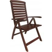 Καρέκλα Ξύλινη Πτυσσόμενη Garden High Από Ξύλο Acacia