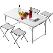 Σετ Τραπέζι Ρυθμιζόμενο Σε Ύψος με 4 Σκαμπό Μεταλλικό Βαλίτσα BORMANN BGS1000 026808