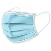 Μάσκες Προστασίας Προσώπου Γαλάζιες Σετ 50 Τεμαχίων