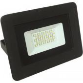 EUROLAMP Προβολέας LED Μαύρος 20W 6500K Ψυχρό Λευκό Φως IP65 147-69413