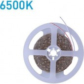 EUROLAMP LED ταινία 5m 10W 12V 6500K Ψυχρό Λευκό Φως IP20 Των 8mm Επέκτασης Έως 10m