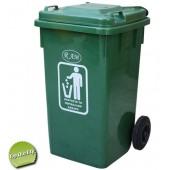 Κάδος Πλαστικός Απορριμμάτων 100lt Πράσινος RAM