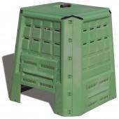 Κομποστοποιητής-Κάδος Κομποστοποίησης 380lt Πλαστικός Κήπου 75x75x80cm Πράσινος BIO Composter ARTPLAST Ιταλίας